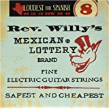 Dunlop RWN0840 Reverend Willy Nickel Plated Steel Electric Guitar Strings, Fine, .008-.040, 6 Strings/Set