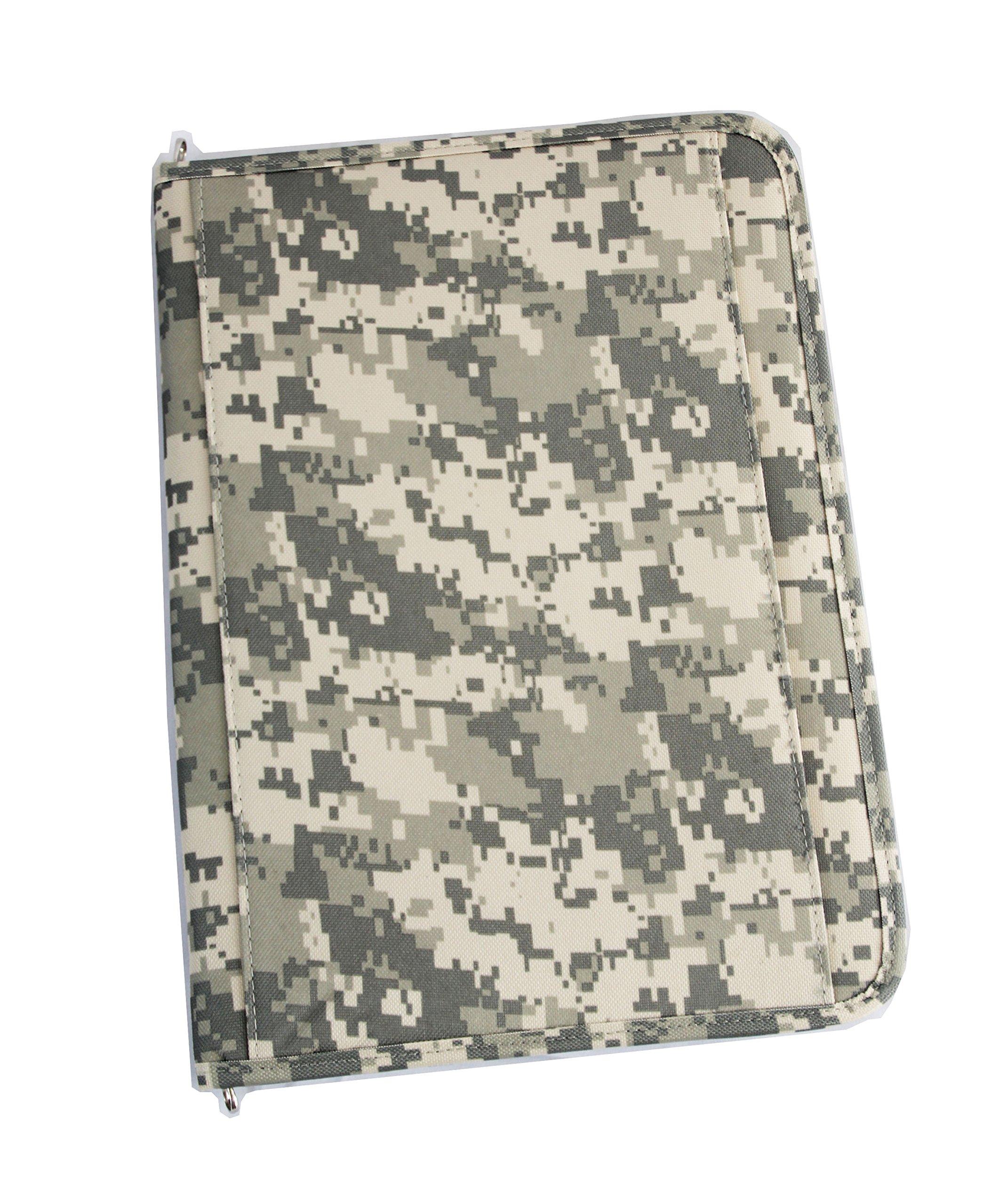 Xtitix Military Digital Camouflage Poly Zipped Padfolio Writing Folder, Camo