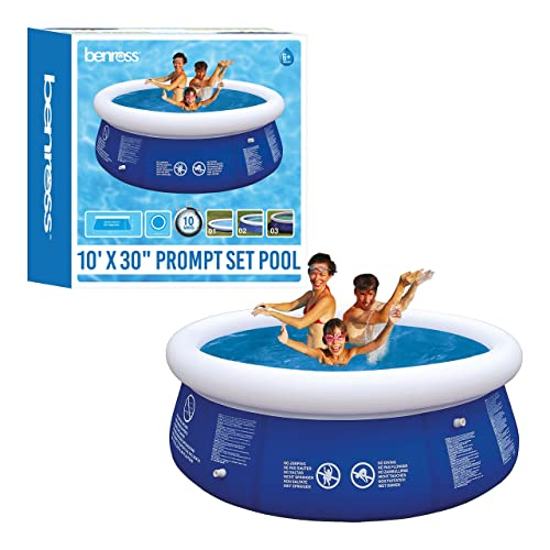 Benross 10ft Garden Round Inflatable Prompt Set Swimming Pool (Extra Large)