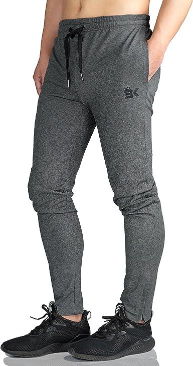 Broki - Pantalones de chándal ajustados con cremallera para hombre ...