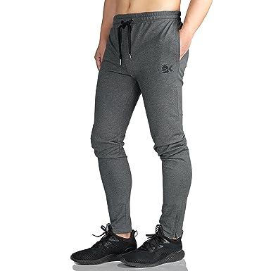 e1e3204f4f81a1 BROKIG Herren Jogginghose Reißverschluss Fitness Hosen Herren Gym  Trainingsanzug Slim Fit Chinos
