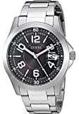 GUESS Men's Japanese-Quartz Watch with Stainless-Steel Strap, Color: Silver-Tone, 21: ((Model: U1103G1))
