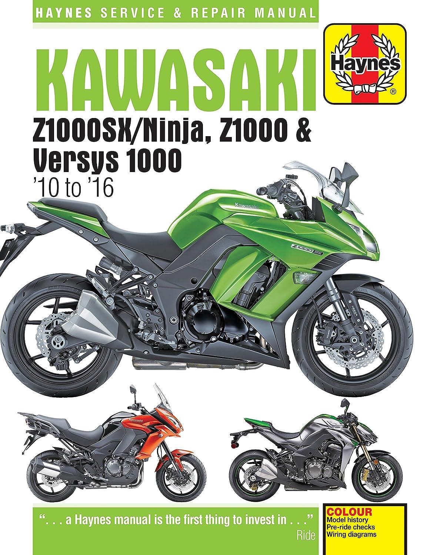 HAYNES KAWASAKI Z1000SX / NINJA, Z1000 & VERSYS 1000 (10 - 16) MOTORCYCLE  MANUAL: Amazon.co.uk: Car & Motorbike