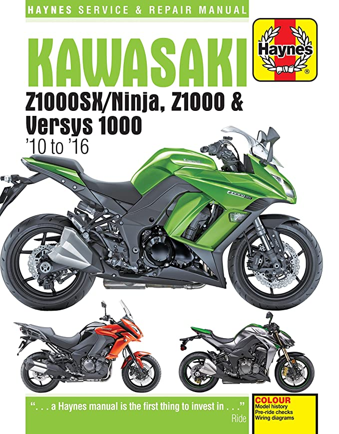 kawasaki z1000 z1000sx versys 1000 2010 to 2016 haynes manual rh amazon co uk