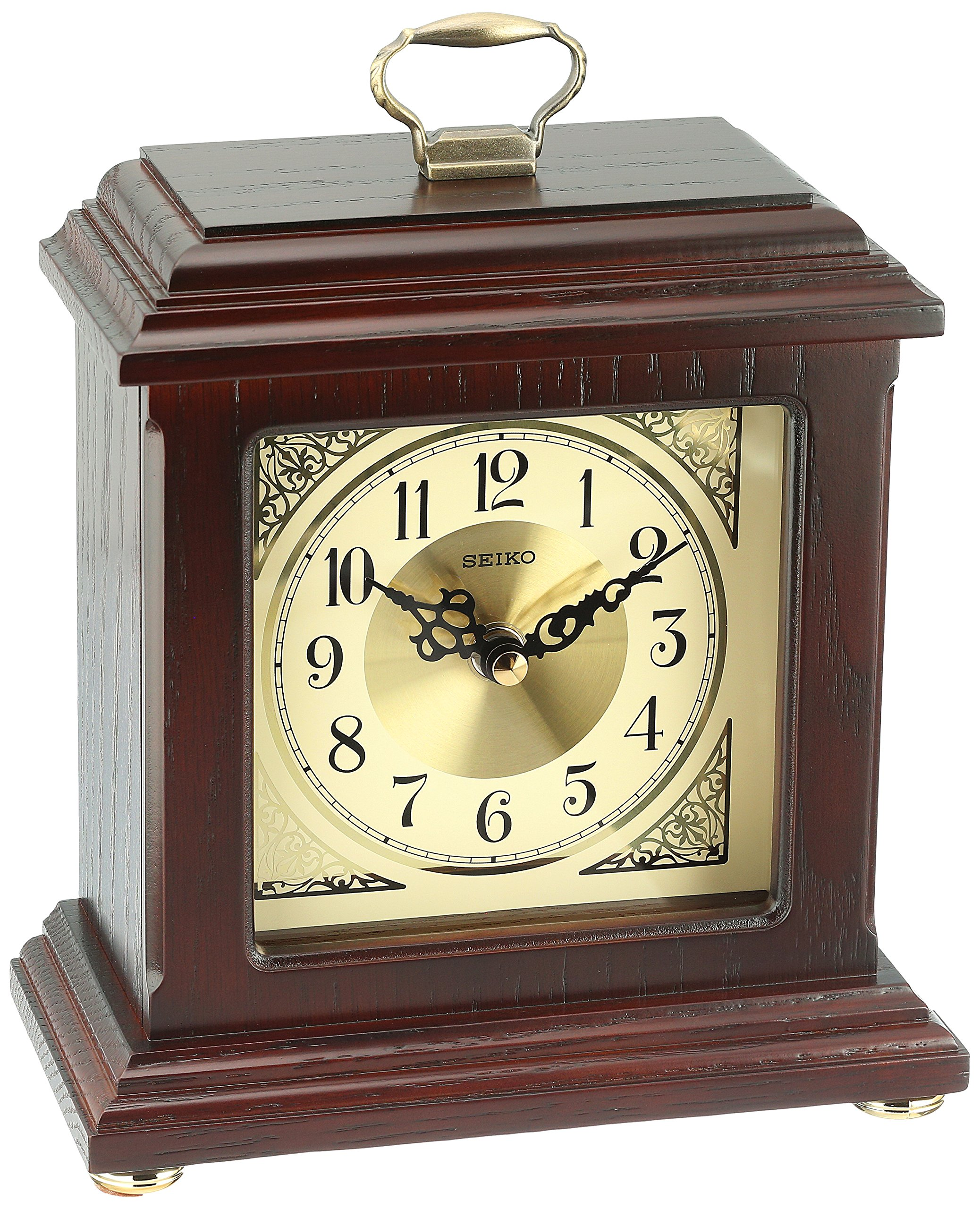 Seiko Wood Desk Clock (Model: QXG147BLH)