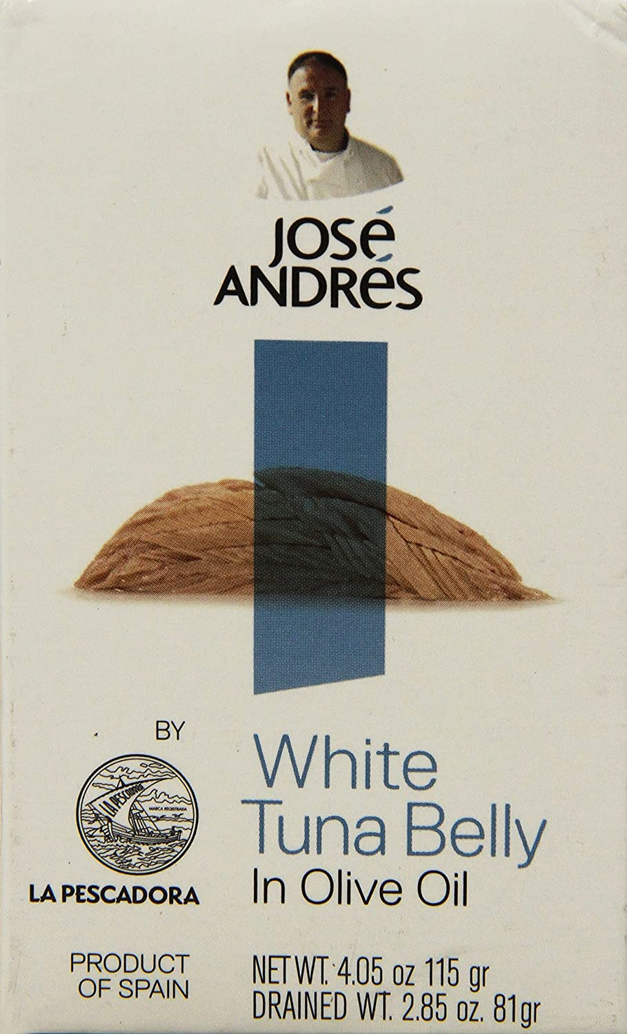 Jose Andres Foods Ventresca White Tuna Belly in Olive Oil Can, 4.05 Ounce