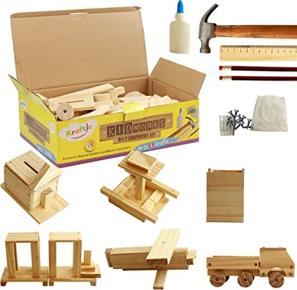 Amazon Com Kraftic Woodworking Building Kit For Kids And Adults