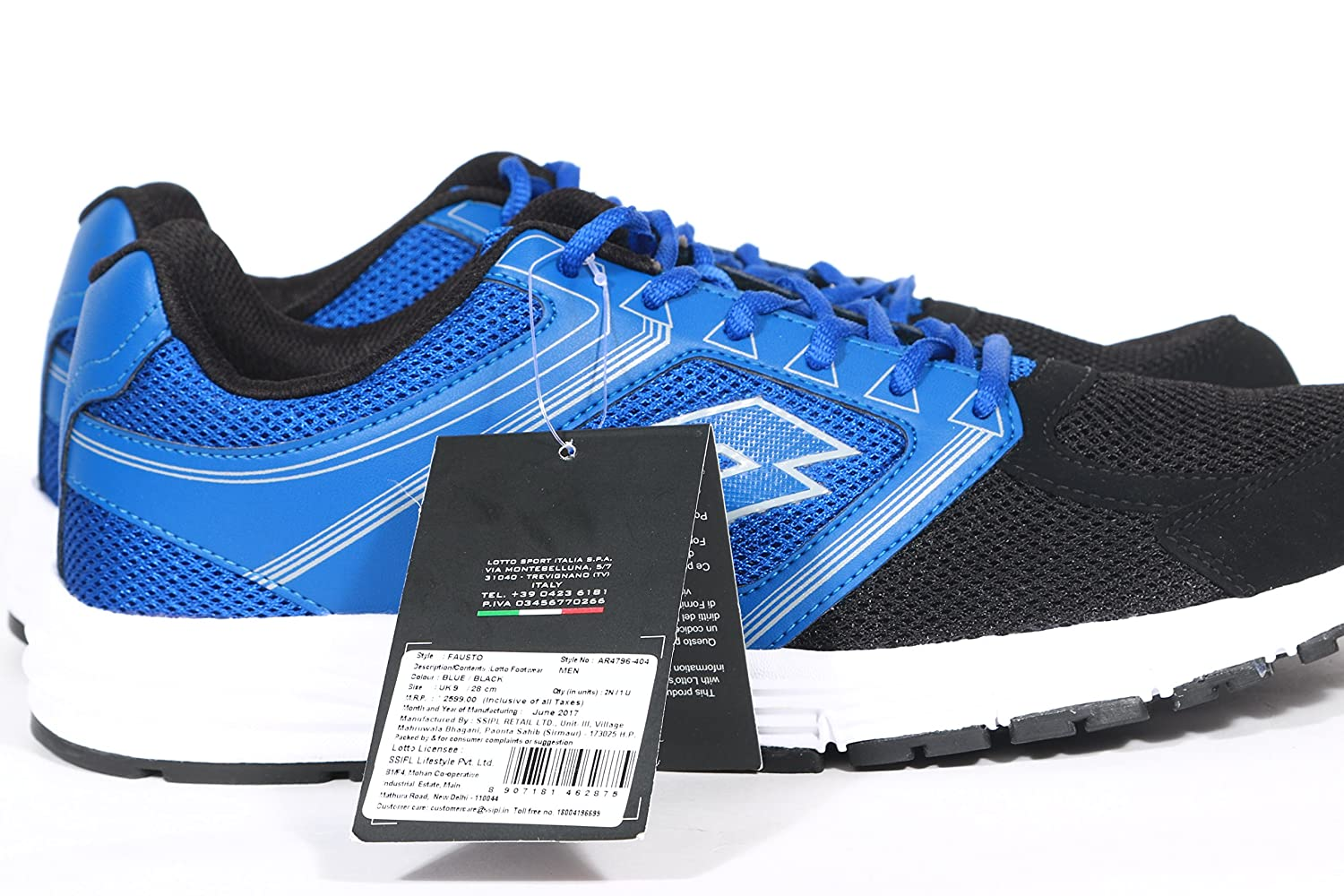 e1f4a40e Lotto Men's Fausto Blue/Black Running Shoes-10 UK/India (44 EU)  (AR4796-404): Buy Online at Low Prices in India - Amazon.in