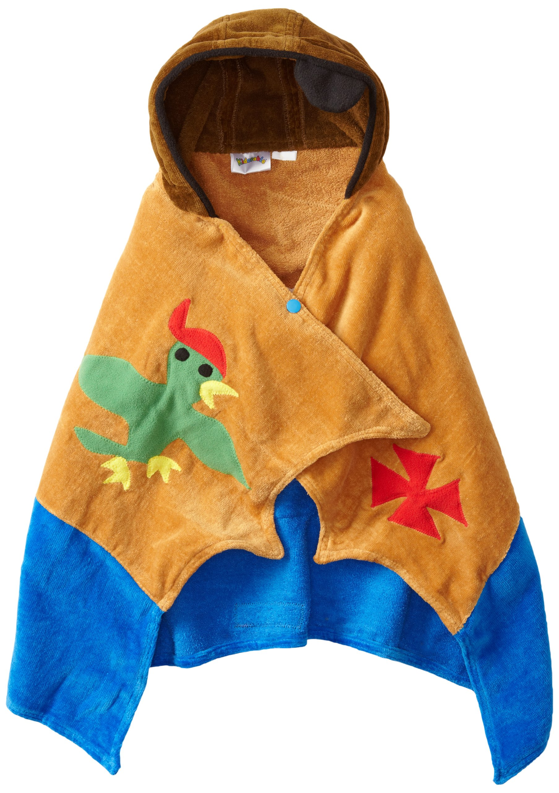 Kidorable Pirate Infant Towel, Brown, 0-3 Years