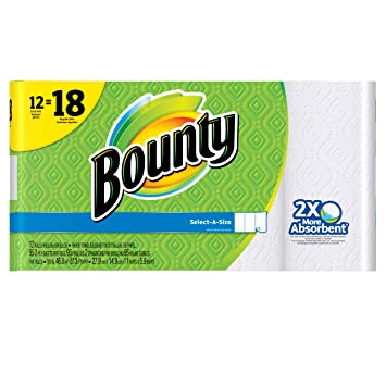 bounty selectasize paper towels white 12 count