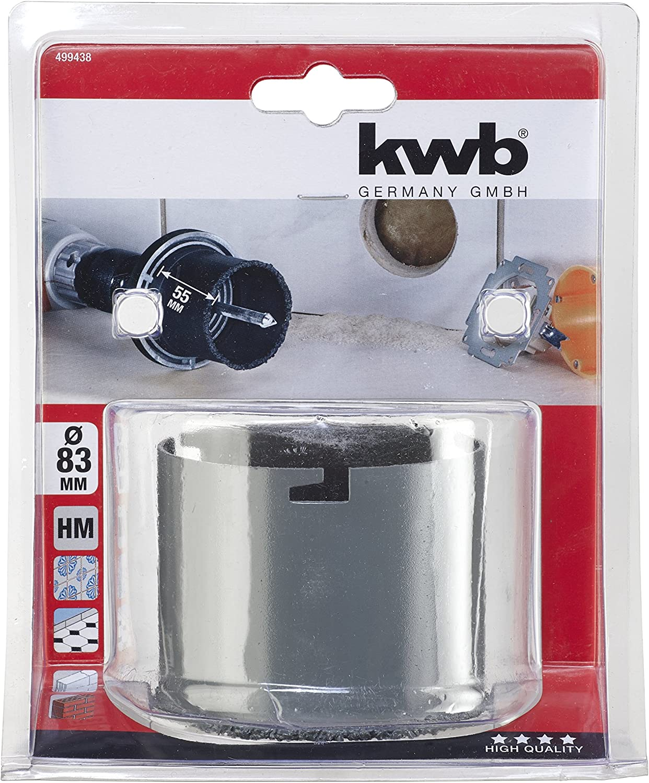 Accesorios para adaptador de taladro kwb 499423 Adaptador para sierra de corona accesorio para adaptador de taladro Adaptador para sierra de corona, 3,3 cm, 8,3 cm