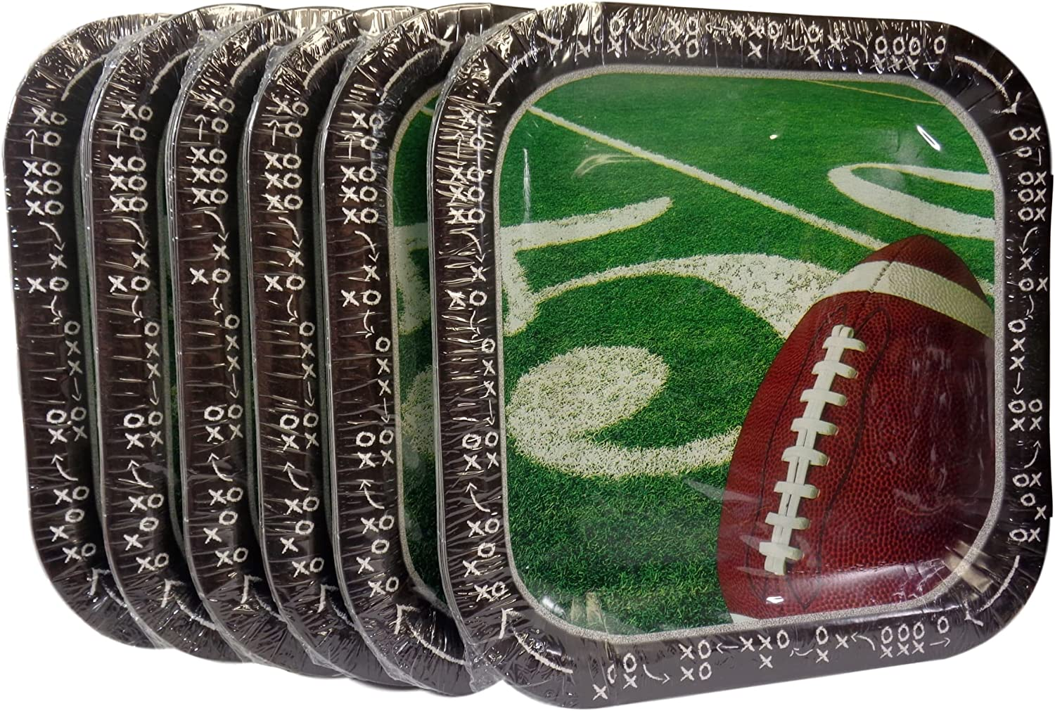 serving dishes tailgating plate super bowl plate football decor football square charger touchdown square platter whimsical pottery