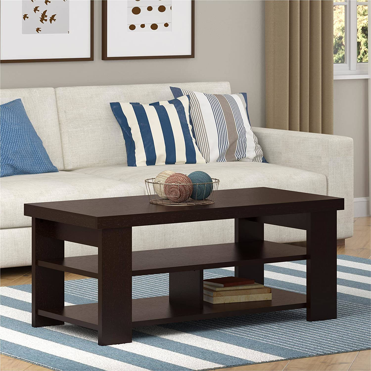Amazon com ameriwood home jensen coffee table multiple colors coffee table espresso kitchen dining