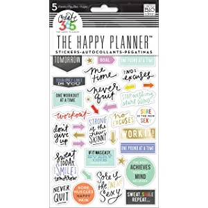 Me And My Big Ideas Create 365 Planner Stickers 5 Sheets//pkg-fitness,