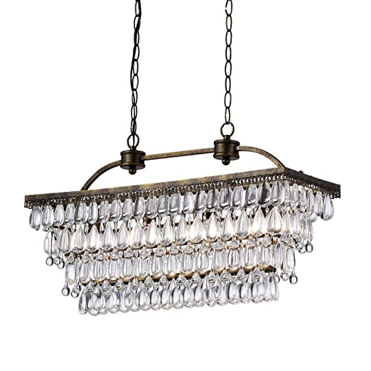 Amazon.com: jojospring Antique 6-Light rectangular gotas ...