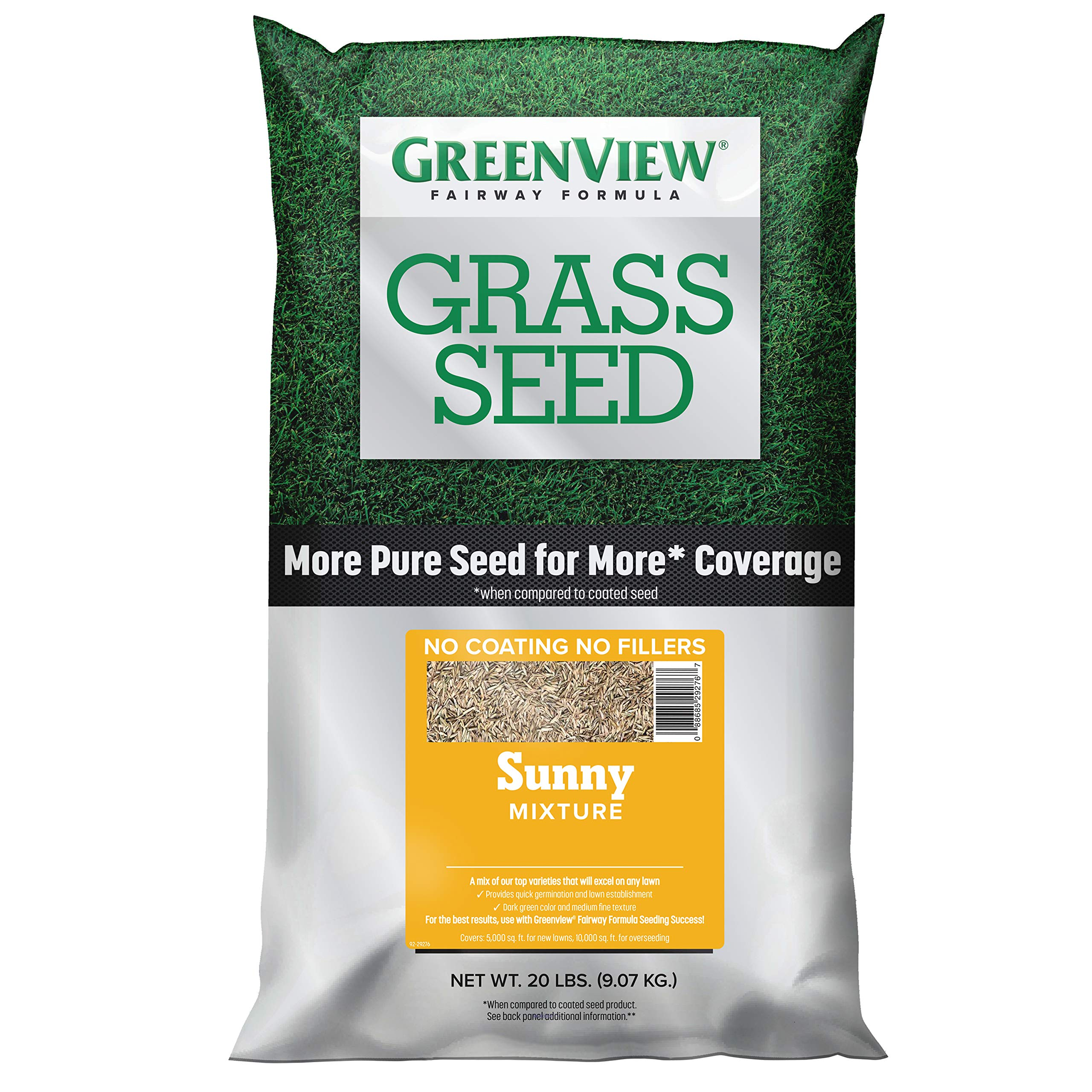 GreenView 2829341  Fairway Formula Grass Seed Sunny Mixture - 20 lb. by GreenView