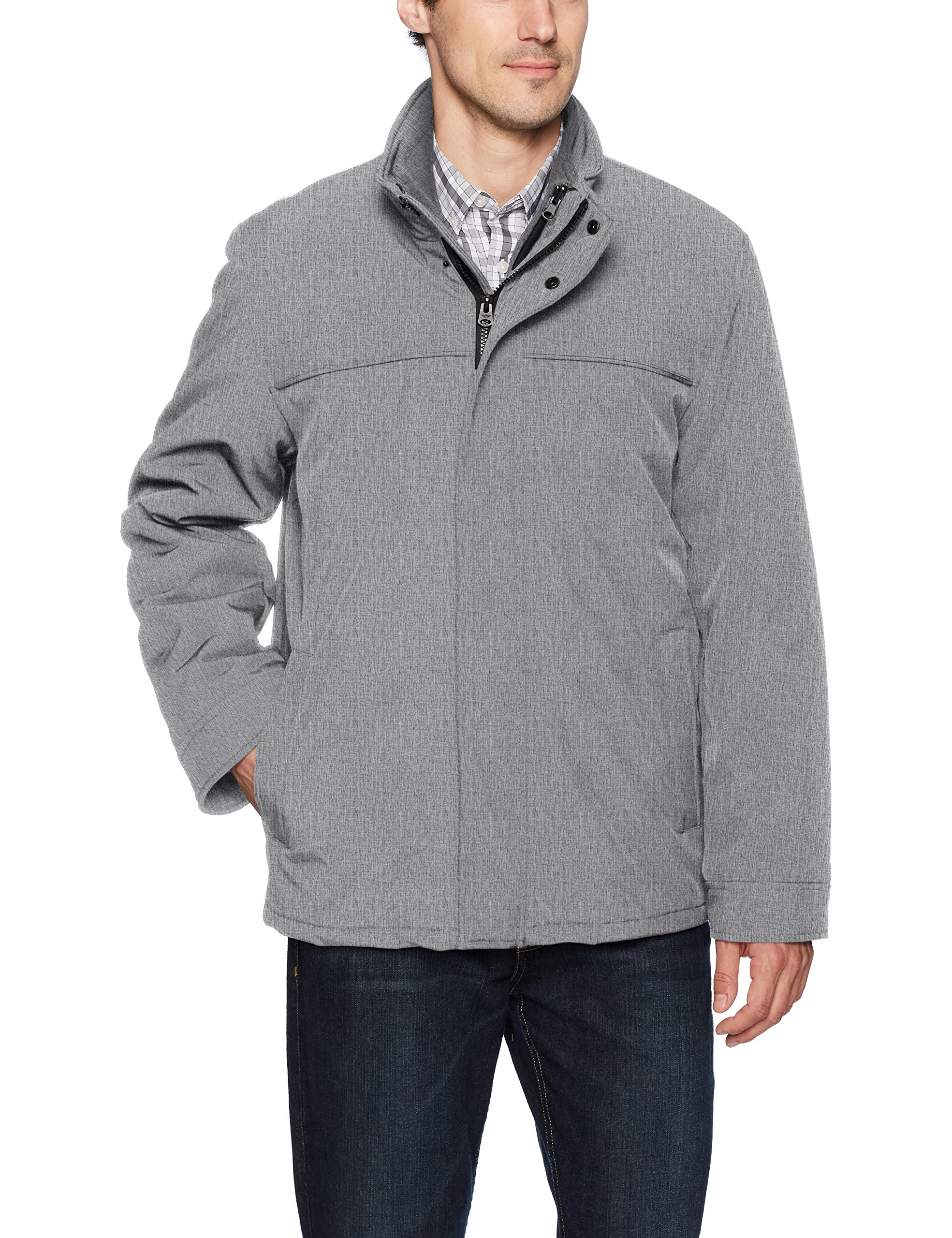 Dockers Men's 3-in-1 Soft Shell Systems Jacket with Fleece Liner, Heather Grey, XX-Large by Dockers
