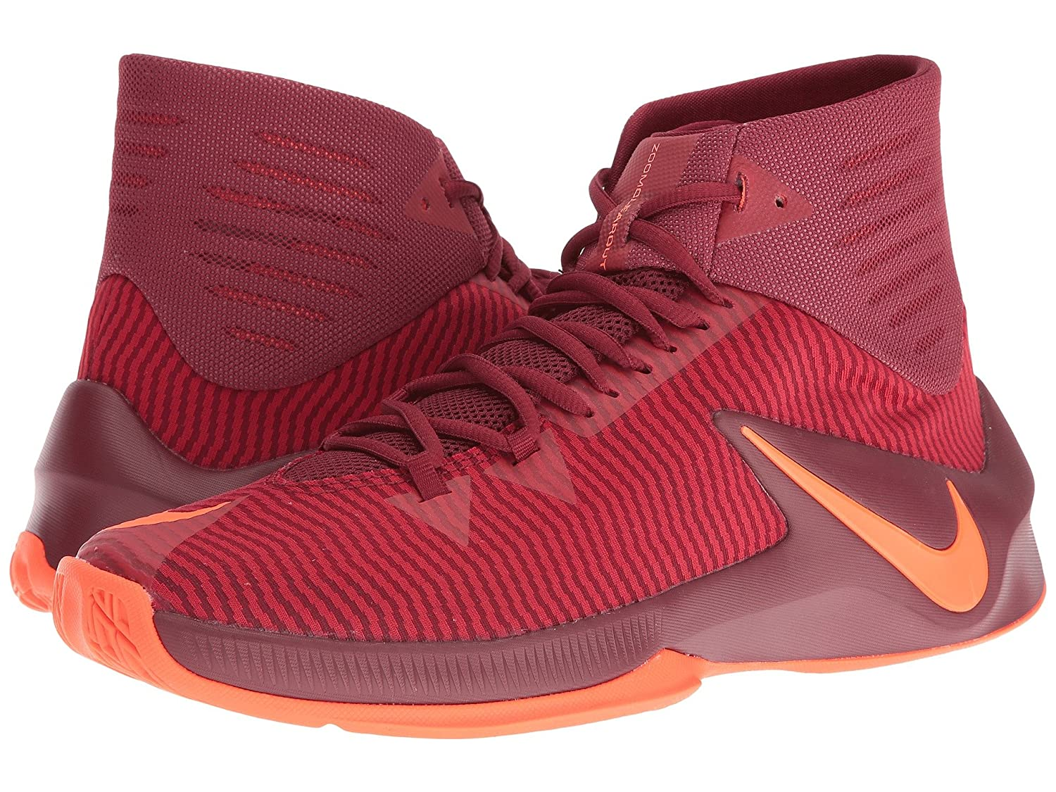 official photos cfaf6 6e152 Amazon.com   Nike Zoom Clear Out Team Red Total Crimson Gym Red Mens  Basketball Shoes   Shoes