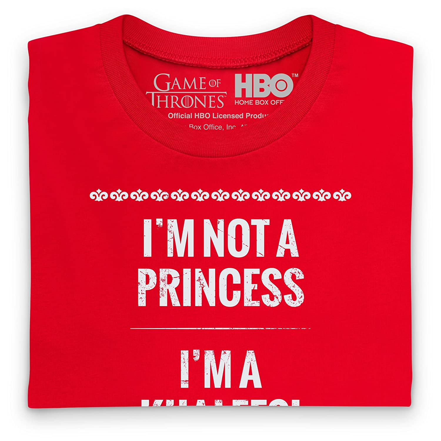 Official Game of Thrones - Khaleesi Camiseta, Para hombre, Rojo ...