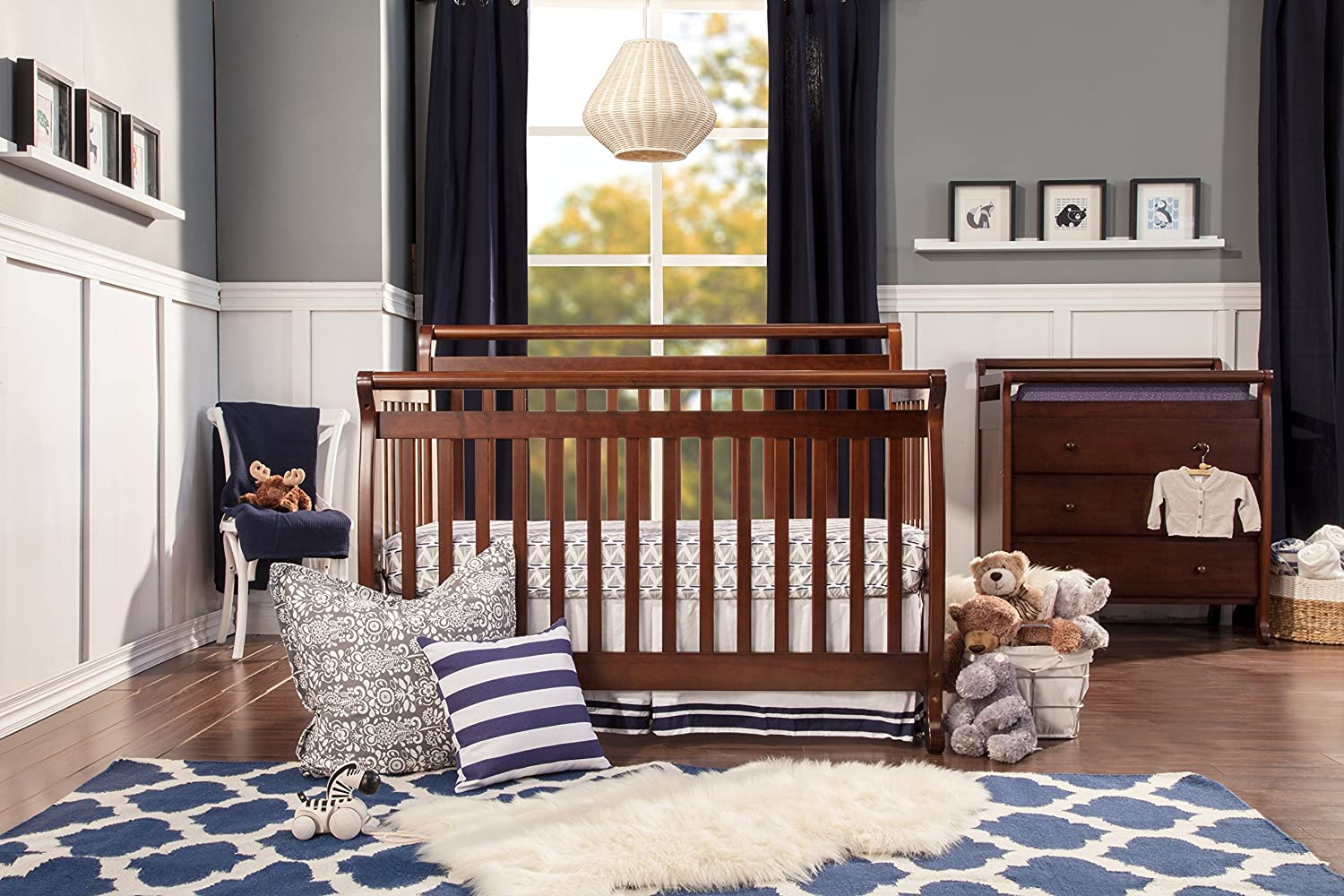 Baby bed hs code - Amazon Com Davinci Emily 4 In 1 Convertible Crib In Espresso Finish Toddler Beds Baby
