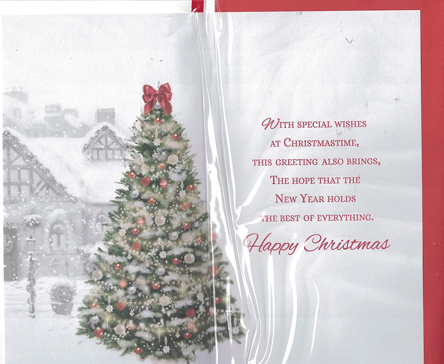 To Both Of You Christmas Card Warm Wishes To Both Of You Merry