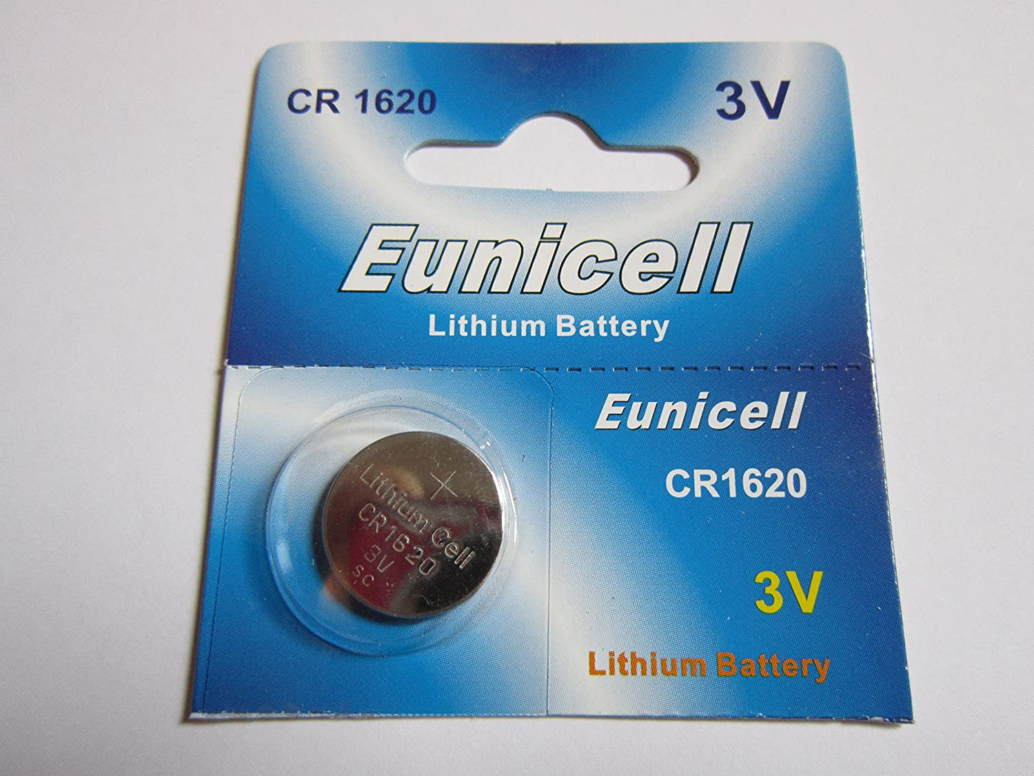 1 Pcs CR1620 CR 1620 - 3V Eunicell Lithium Button Cell Battery Batteries - BRAND NEW IN FACTORY PACKAGING