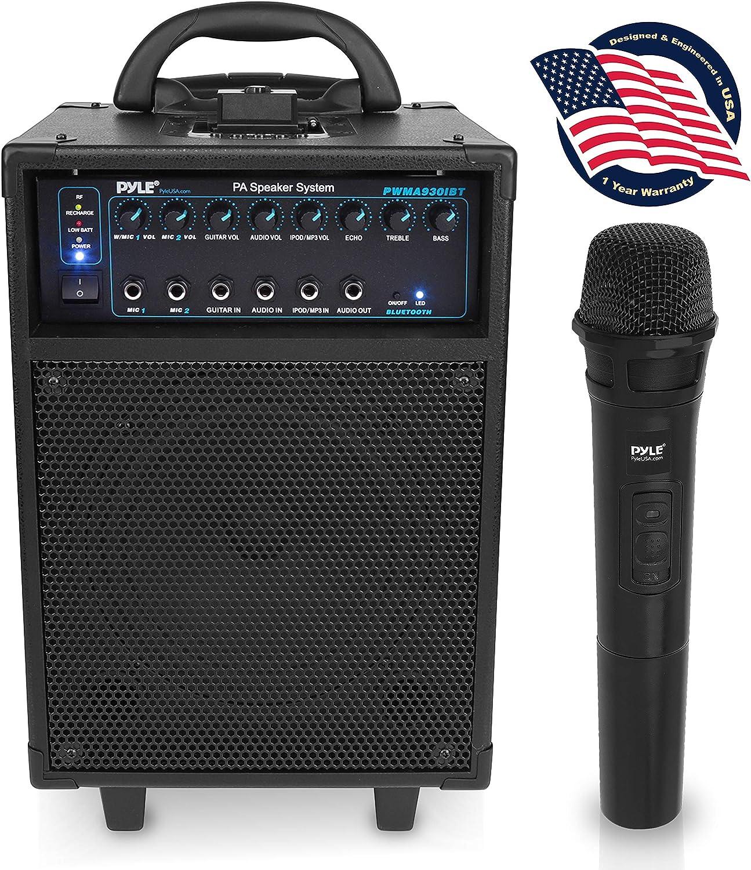 Pyle Wireless Portable PA Speaker PWMA930IBT
