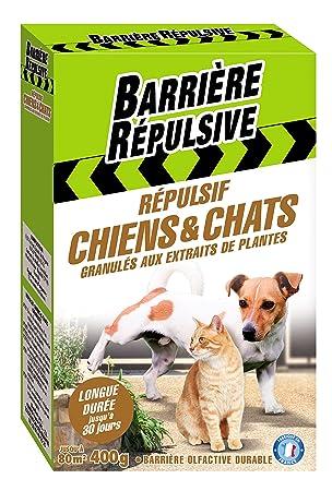 BARRIERE REPULSIVE chiengra4 Repelente de Perros y Gatos – Cristales para Blanco 15 x 6 x