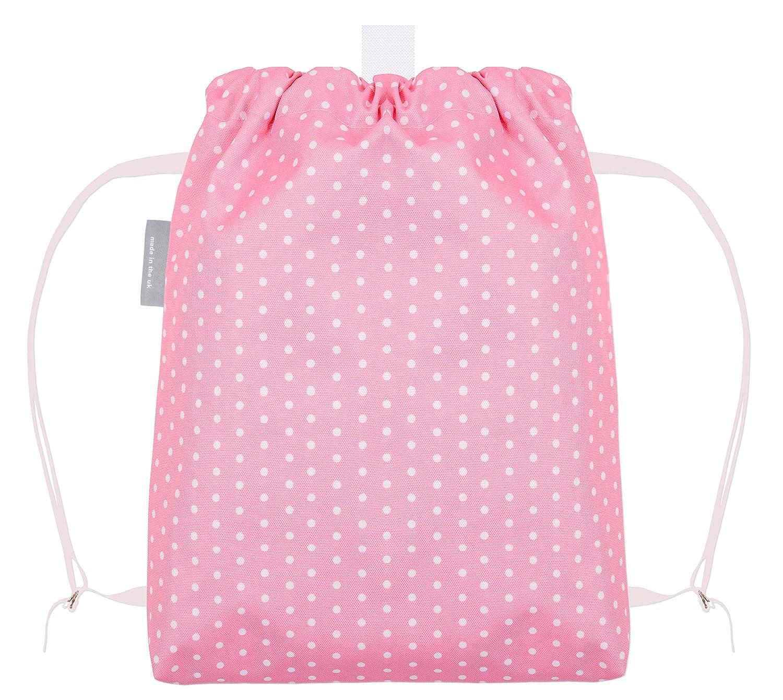 bf53f45214 Izabela Peters Personalised Rabbit Waterproof Swimming Shoe Gym PE Pink  Polka Dot