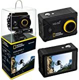 """National Geographic Action Cam Explorer 2 FULL-HD 140°, WLAN, 2"""" LCD, HDMI, umfangreiches Zubehör"""
