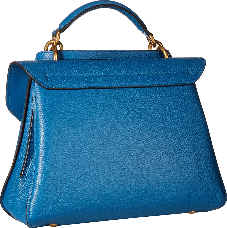 56e50401396e Amazon.com: Salvatore Ferragamo Women's Small Top-Handle Bag Azure One  Size: Shoes