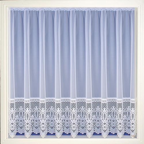 Lace Curtains Amazon: White Heavy Lace Curtains: Amazon.co.uk