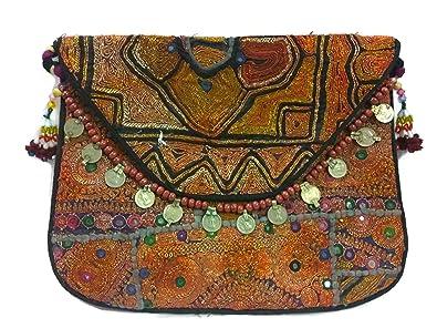 f4422e2ef0 Handmade Embroidery Indian Rajasthani Sling Banjara boho hobo bag ...