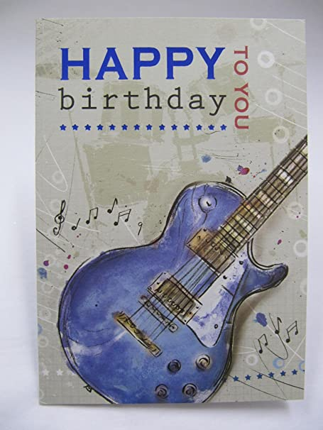 FANTASTIC COLOURFUL MUSIC RELATED HAPPY BIRTHDAY GREETING CARD