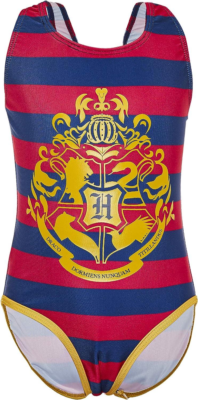 Harry Potter Bañador Niña Diseño Hogwarts, Bañador Niña Natacion de Una Pieza, Merchandising, Regalos Originales para Niñas Adolescentes 5-14 Años