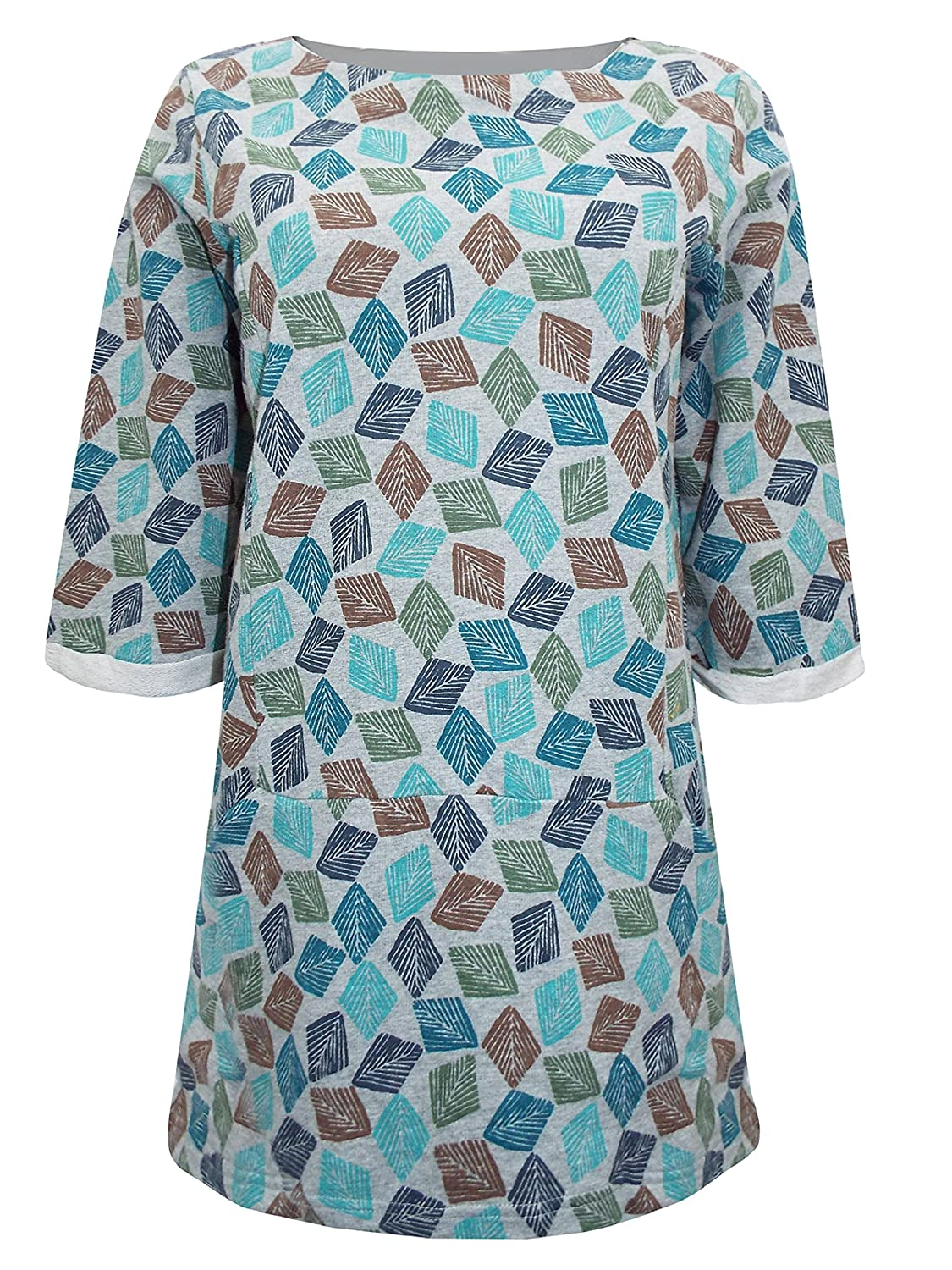 46393ae6ec5 Seasalt Trewoon Tunic Top in Diamond Stamp Cobble Organic Cotton (14):  Amazon.co.uk: Clothing