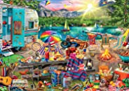 Buffalo Games - Look Closer - Aimee Stewart - Family Campsite - 500 Piece Jigsaw Puzzle