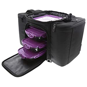 6 Pack Fitness Bag Innovator 300 Black/Neon Purple