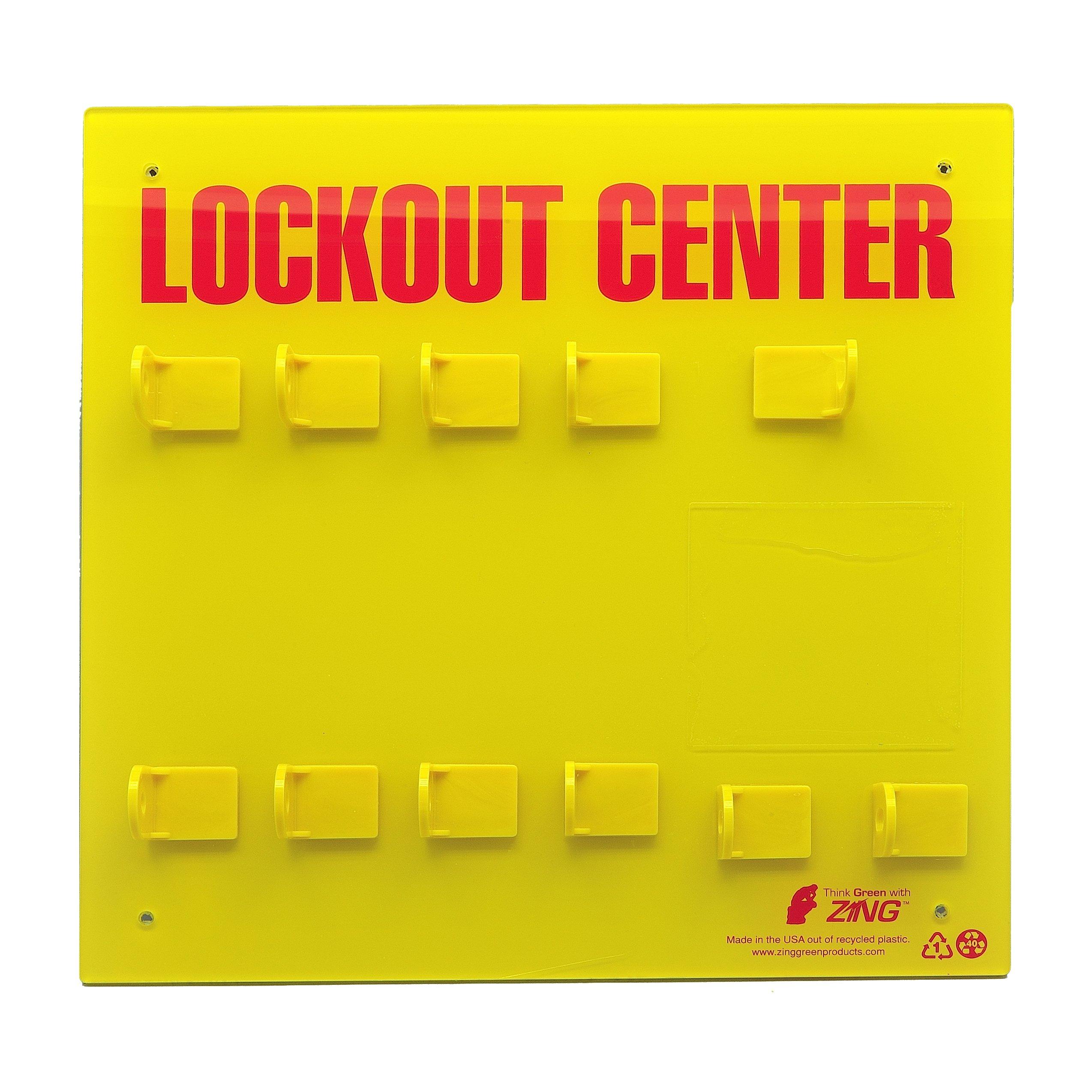 ZING 7114E RecycLockout Lockout Station, 8 Padlock, Unstocked