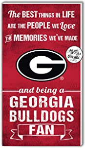 """KH Sports Fan Georgia Bulldogs 11""""x20"""" inOutdoor The Best Things Sign, Team Color"""