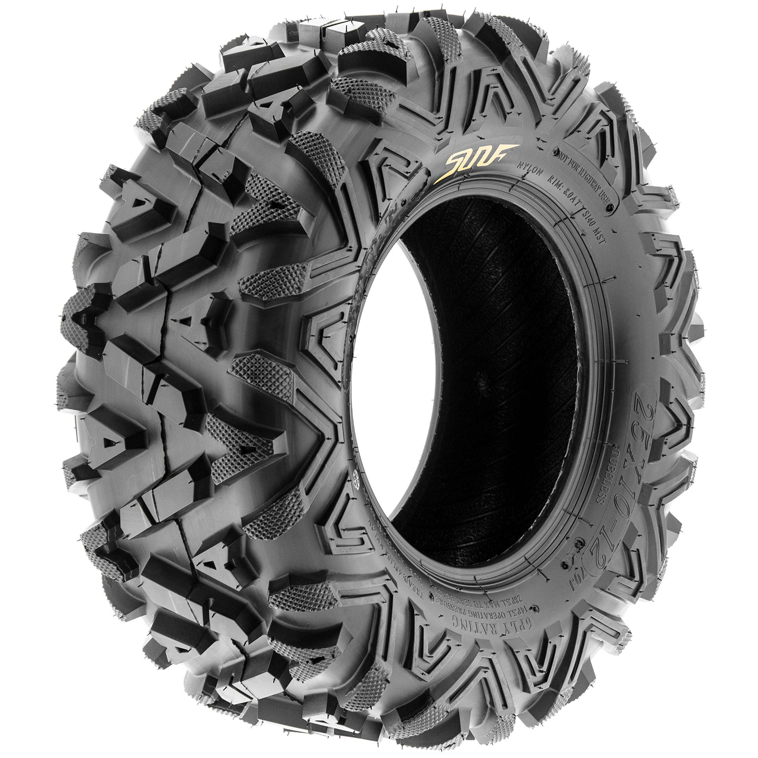 Pair of 2 SunF A033 Power.I AT 25x10-11 ATV UTV Off-Road Tires, All-Terrain, 6 PR, Tubeless by SUNF (Image #8)