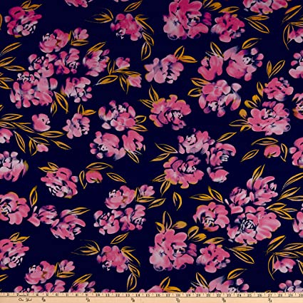 61e1f5ee331 Image Unavailable. Image not available for. Color: Fabric ITY Stretch  Jersey Knit Asbtract Floral ...