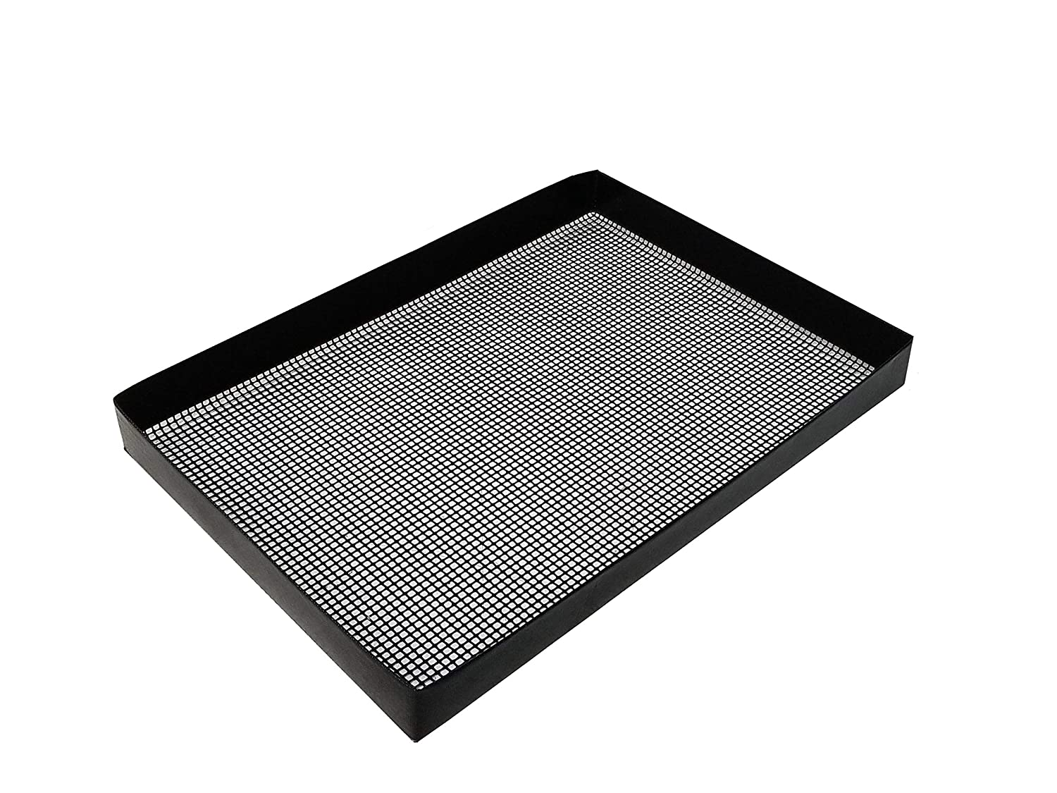 """11.675"""" X 16.5"""" x 1.5"""" PTFE Wide Mesh Oven basket for TurboChef, Merrychef, and Amana, can also be used in smokers and grills"""