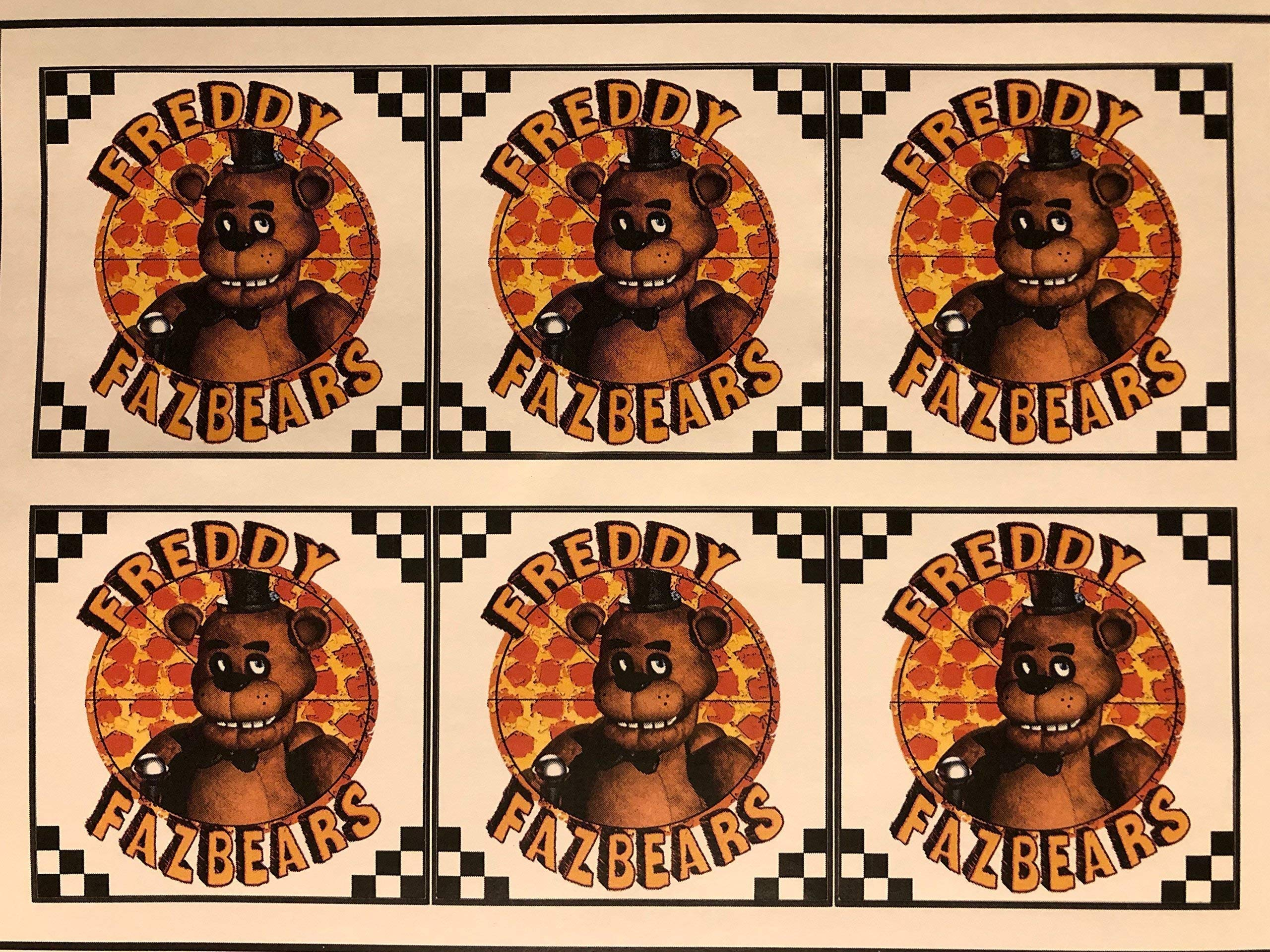 30 stickers Five Fights at Freddy's Pizza Box Stickers/Five Fights at Freddy's Party supplies/Five Fights at Freddy's Birthday/FNAF Pizza stickers/Five Fights at Freddy's/FNAF Party supplies