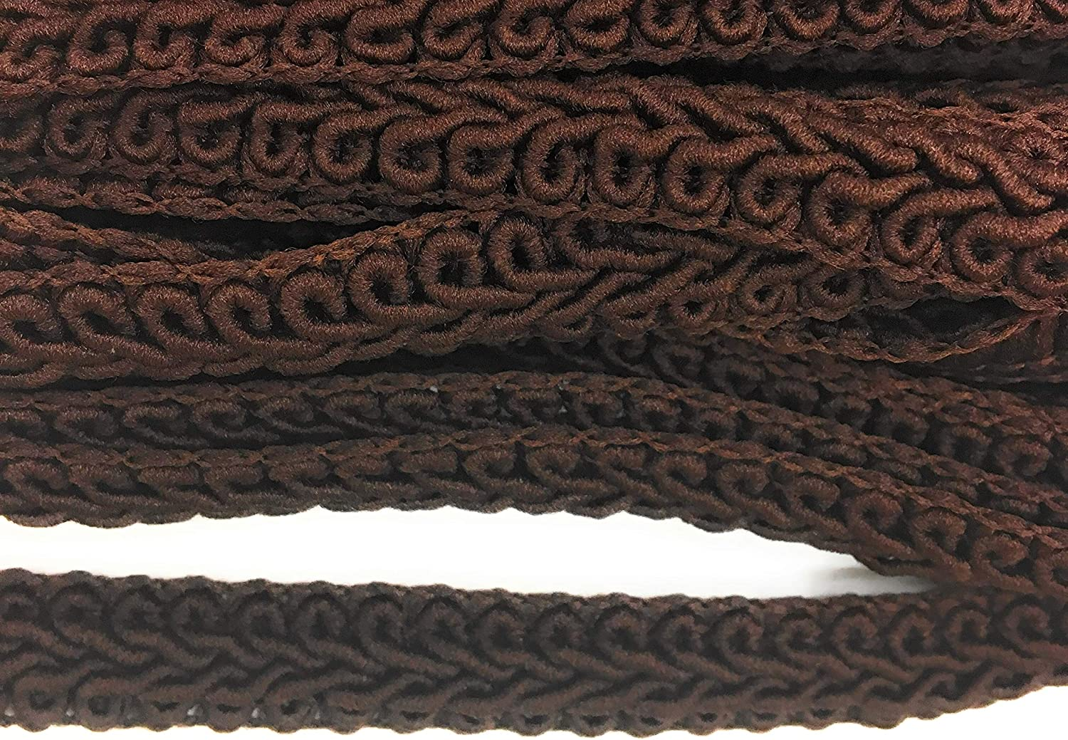Dark Brown GIMP Braided x 5 Yds Sewing,Quilting Trimming 5//8 15mm