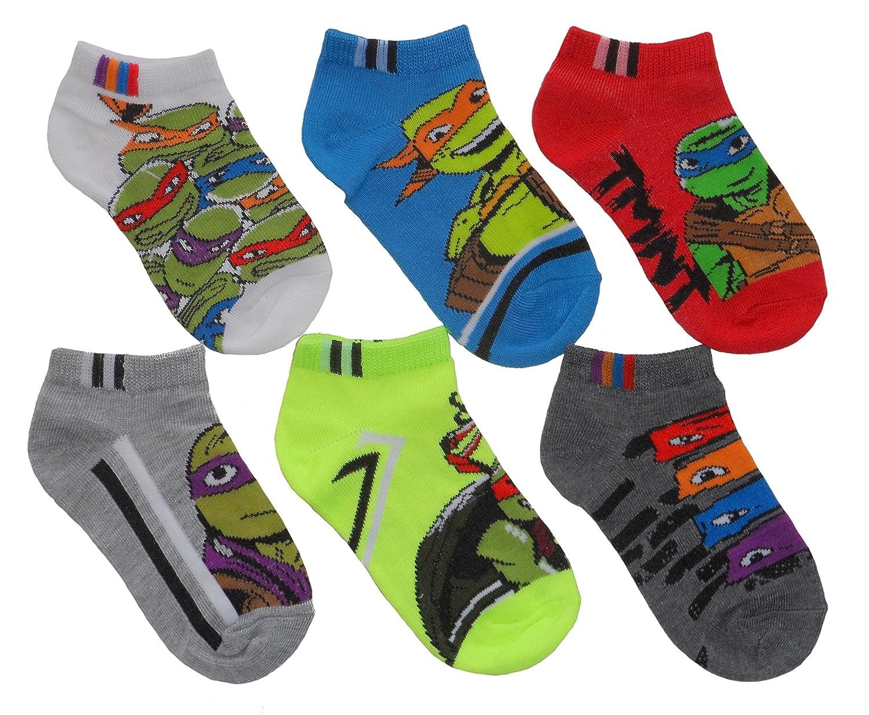 discount Teenage Mutant Ninja Turtles Little Boys' Assorted No Show Socks - 6 pk supplies