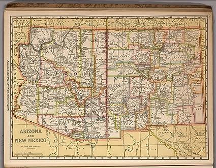 Amazon.com: Map Poster - Arizona and New Mexico 16\