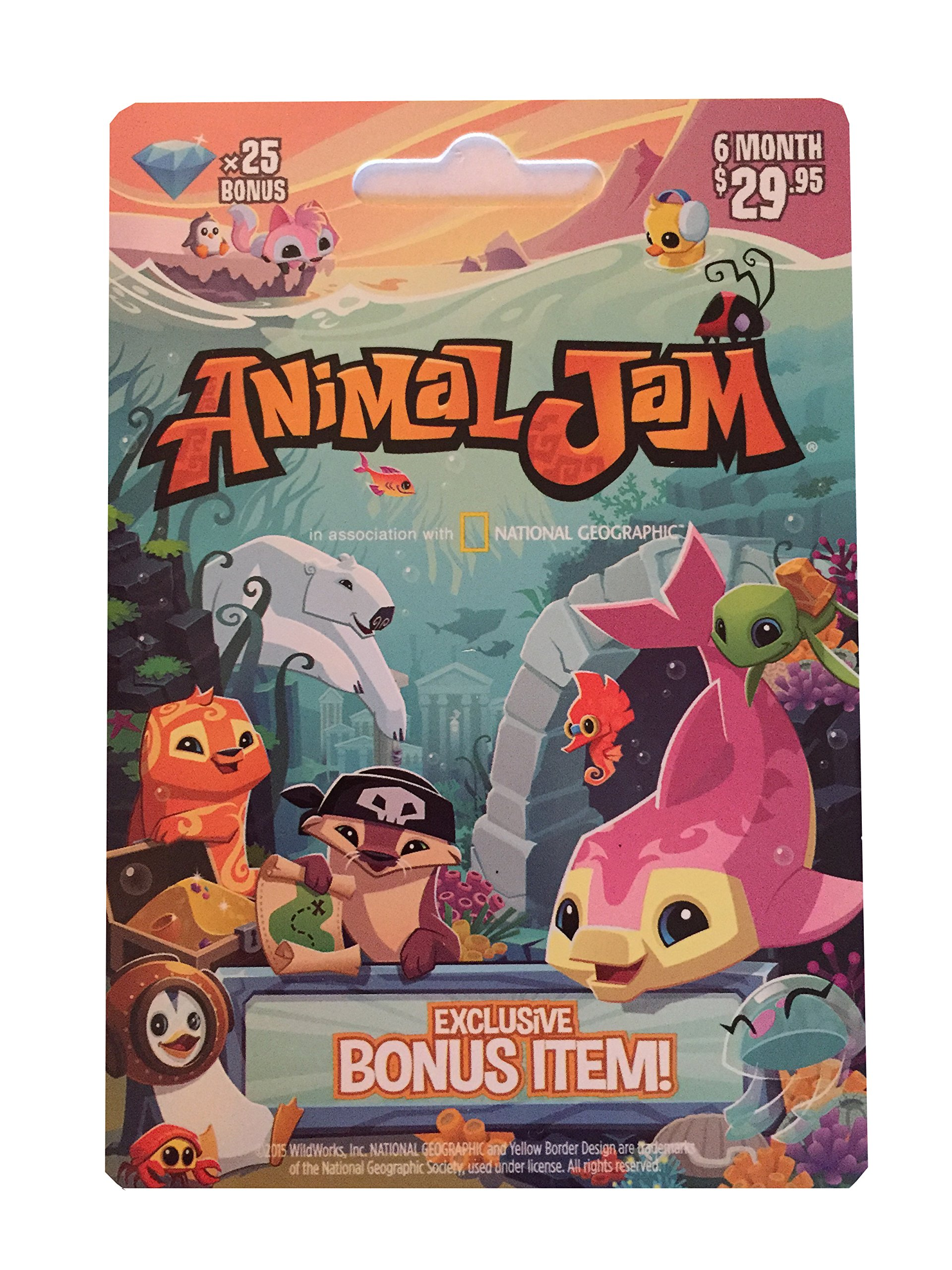 Image of: Snow Leopard National Geographic Animal Jam Online Game Card 25 Diamonds Month Membership Kangaroo Arctic Wolf Snow Leopard Or Lion By National Geographic Okclipsnet Amazoncom National Geographic Animal Jam Online Game Card 25