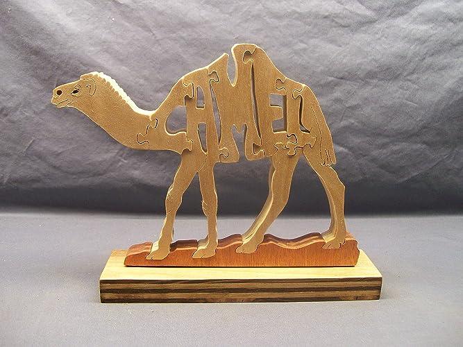 Amazon.com: wooden camel puzzle: Handmade
