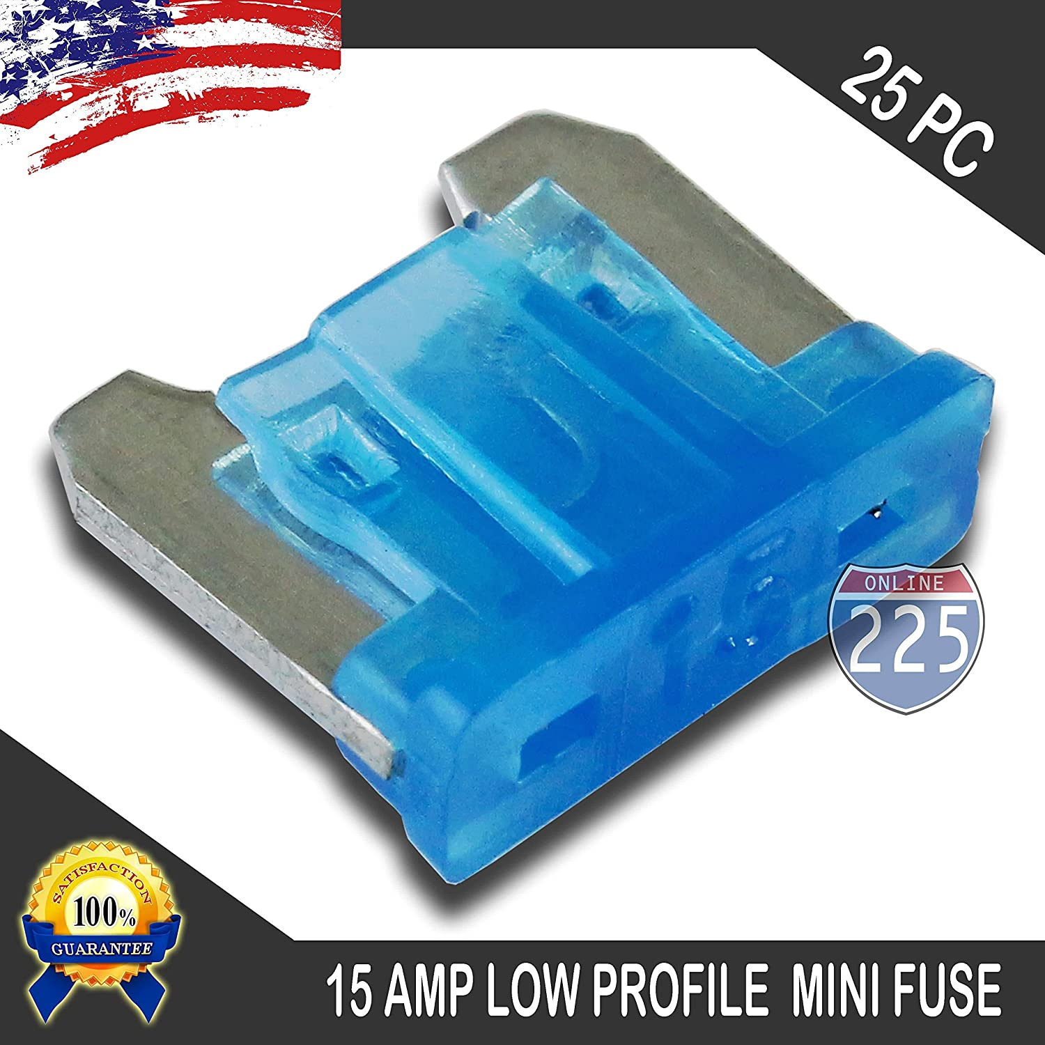 New 15A 15 Amp ATM Mini Blade AUTO Fuse 25 PACK